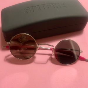 Spitfire Round Glasses - Silver Mirrored Lenses
